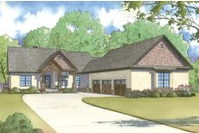 Dream House Plan - Traditional Exterior - Front Elevation Plan #923-11