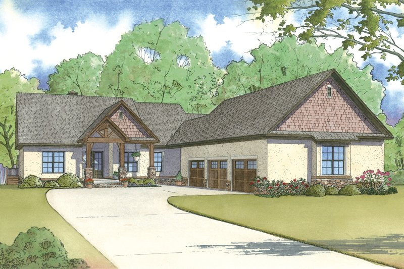 Traditional Exterior - Front Elevation Plan #923-11 - Houseplans.com