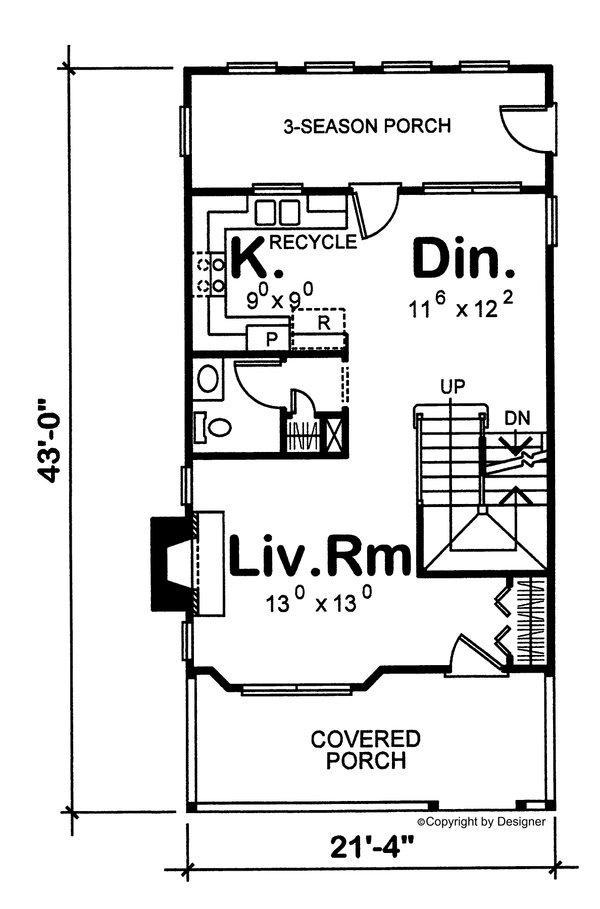 Dream House Plan - Victorian Floor Plan - Main Floor Plan #20-2469