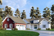 Dream House Plan - Farmhouse Exterior - Other Elevation Plan #437-126