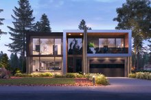 Architectural House Design - Contemporary Exterior - Front Elevation Plan #1066-102