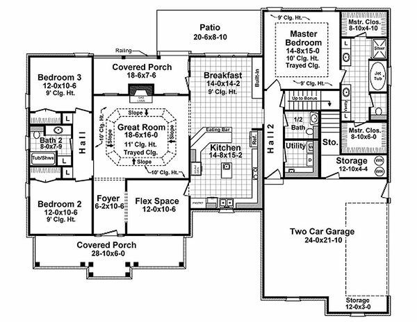 Traditional Floor Plan - Main Floor Plan Plan #21-348