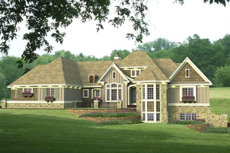 House Plan - 3 Beds 2.5 Baths 2886 Sq/Ft Plan #51-531 Exterior - Front Elevation