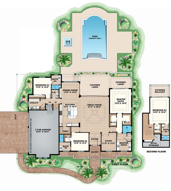Beach Floor Plan - Main Floor Plan Plan #27-485