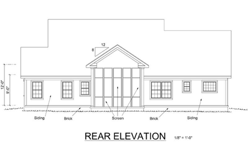 Country Exterior - Rear Elevation Plan #513-2051 - Houseplans.com