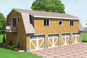 Country Style House Plan - 0 Beds 0 Baths 2568 Sq/Ft Plan #75-199 Exterior - Front Elevation