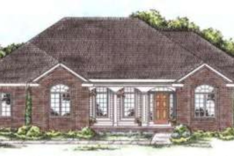 Traditional Exterior - Front Elevation Plan #20-1663 - Houseplans.com