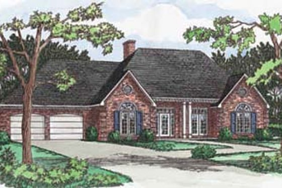 Traditional Exterior - Front Elevation Plan #16-114