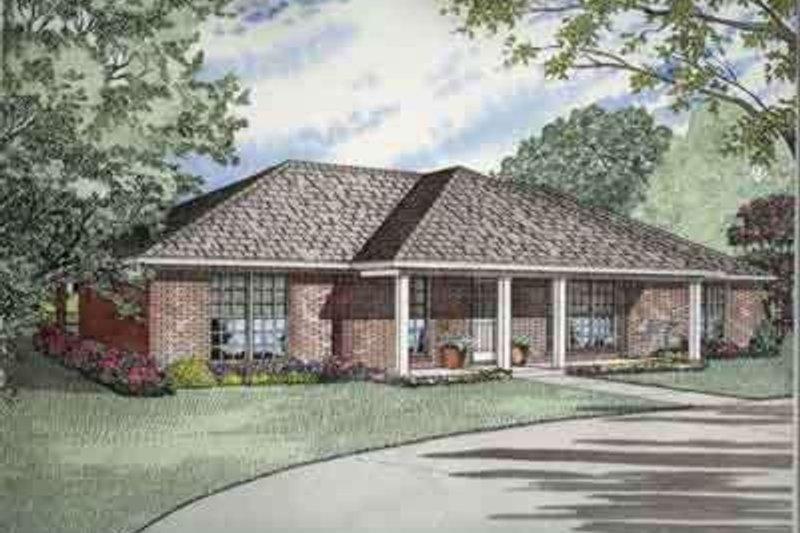 Dream House Plan - Exterior - Front Elevation Plan #17-2141