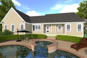 Craftsman Style House Plan - 3 Beds 2.5 Baths 2182 Sq/Ft Plan #1071-1 Exterior - Rear Elevation
