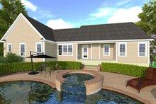 Craftsman Exterior - Rear Elevation Plan #1071-1