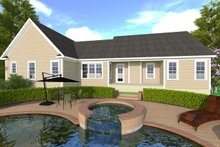 House Plan Design - Craftsman Exterior - Rear Elevation Plan #1071-1