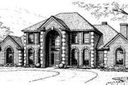 European Style House Plan - 4 Beds 4.5 Baths 3670 Sq/Ft Plan #310-172 Exterior - Front Elevation