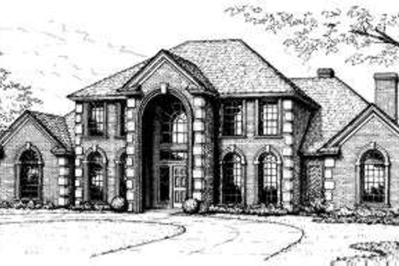 European Style House Plan - 4 Beds 4.5 Baths 3670 Sq/Ft Plan #310-172
