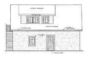 Traditional Style House Plan - 1 Beds 1 Baths 560 Sq/Ft Plan #116-131 Exterior - Rear Elevation