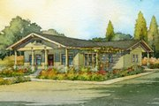 Craftsman Style House Plan - 2 Beds 1.5 Baths 1044 Sq/Ft Plan #485-3 Exterior - Front Elevation
