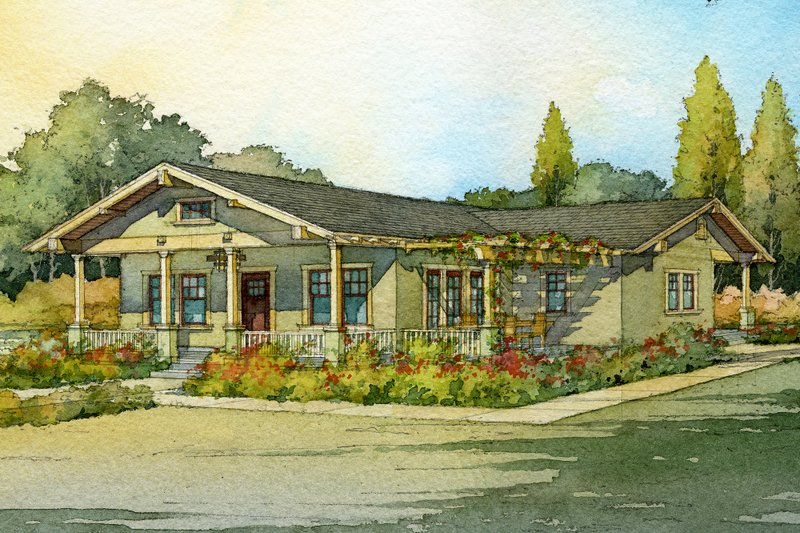 Architectural House Design - Craftsman bungalow by James Madsen 1000sft