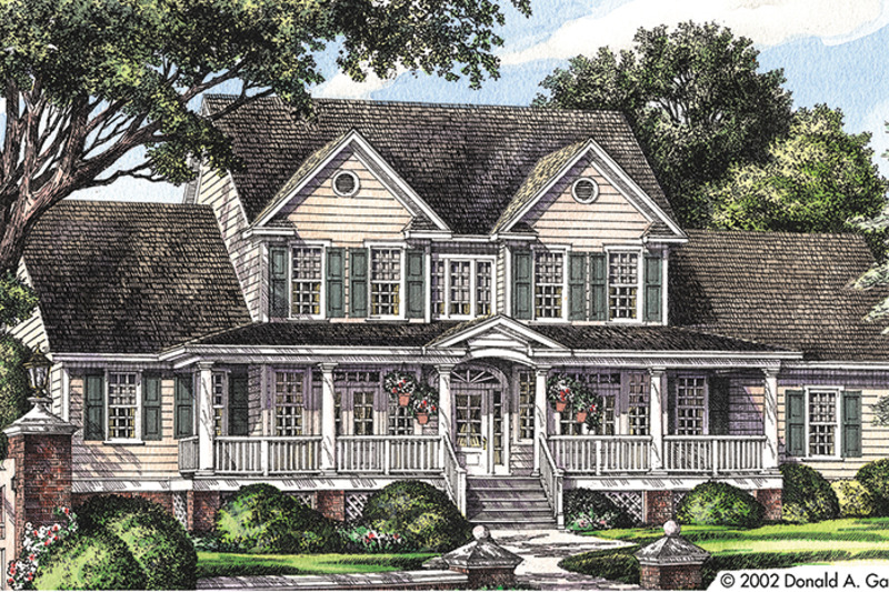 Country Exterior - Front Elevation Plan #929-667 - Houseplans.com