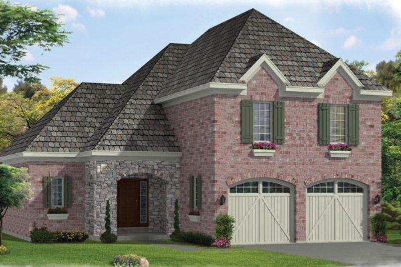 House Plan Design - European Exterior - Front Elevation Plan #46-827