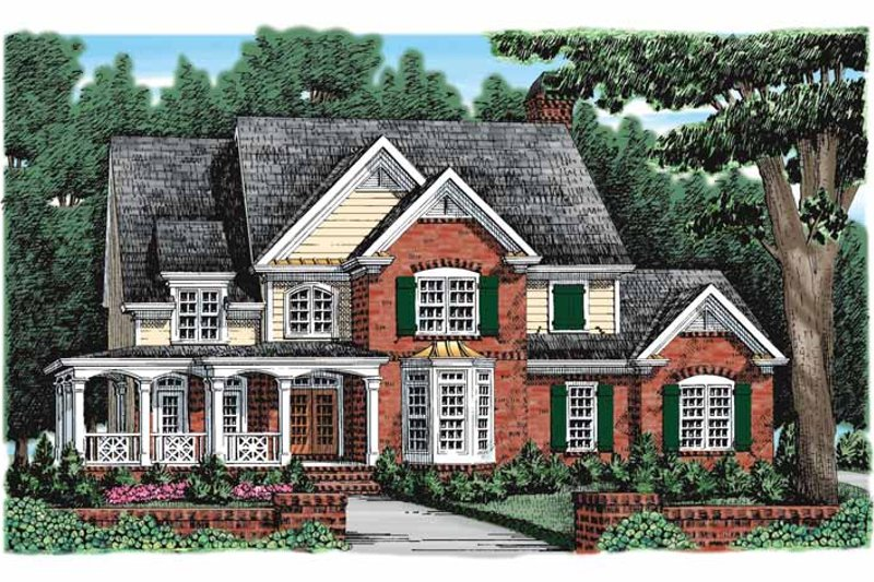 Country Exterior - Front Elevation Plan #927-916
