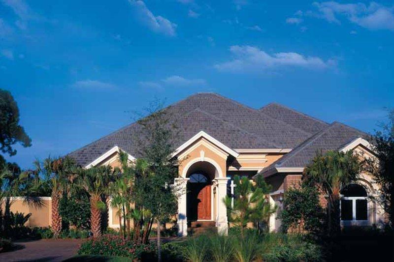House Plan Design - Mediterranean Exterior - Front Elevation Plan #930-45