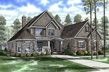 Craftsman Exterior - Front Elevation Plan #17-2807