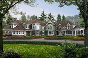 Craftsman Style House Plan - 5 Beds 5.5 Baths 7400 Sq/Ft Plan #132-182 Exterior - Front Elevation