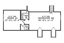 Colonial Floor Plan - Upper Floor Plan Plan #314-282