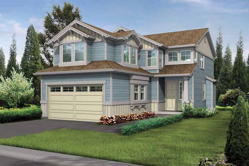 Craftsman Exterior - Front Elevation Plan #132-293