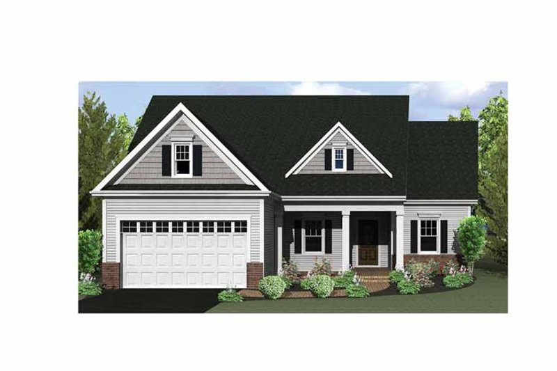 Craftsman Exterior - Front Elevation Plan #1010-5