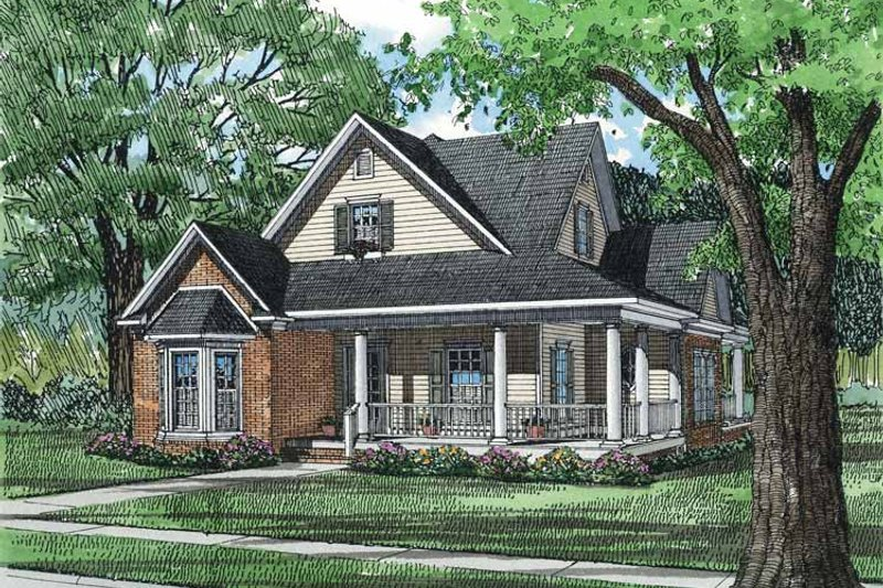 Country Exterior - Front Elevation Plan #17-2703 - Houseplans.com