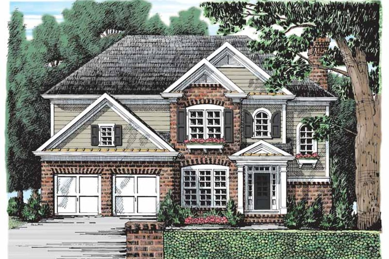 Colonial Exterior - Front Elevation Plan #927-899 - Houseplans.com