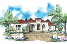 Home Plan - Mediterranean Exterior - Front Elevation Plan #930-309