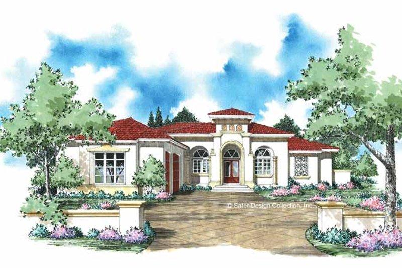 House Plan Design - Mediterranean Exterior - Front Elevation Plan #930-309