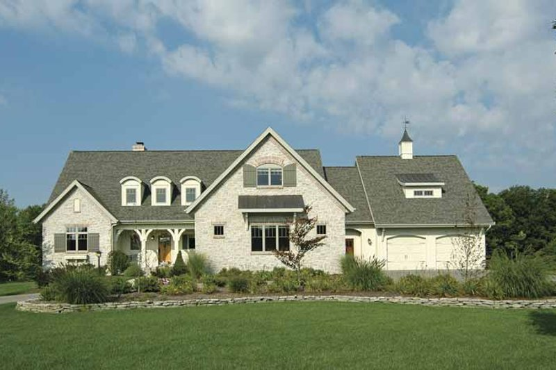 Cottage Exterior - Front Elevation Plan #928-52