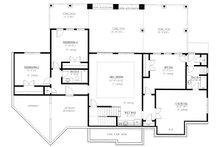 Craftsman Floor Plan - Lower Floor Plan Plan #437-116