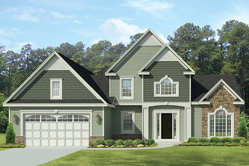Architectural House Design - Traditional Exterior - Front Elevation Plan #1010-140