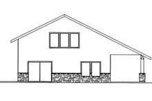 Dream House Plan - Contemporary Exterior - Other Elevation Plan #117-855
