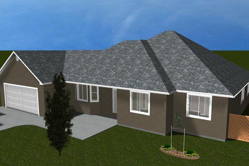Ranch Exterior - Front Elevation Plan #1060-34 - Houseplans.com
