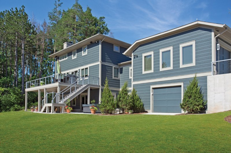 Contemporary Exterior - Rear Elevation Plan #928-273 - Houseplans.com