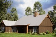 Craftsman Style House Plan - 4 Beds 2 Baths 1897 Sq/Ft Plan #923-165 Exterior - Rear Elevation
