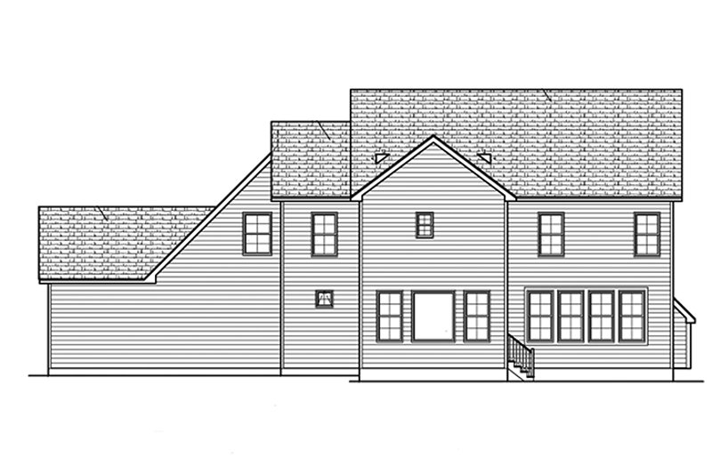 Traditional Exterior - Rear Elevation Plan #1010-132 - Houseplans.com
