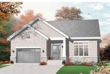 House Plan Design - Craftsman Exterior - Front Elevation Plan #23-2437