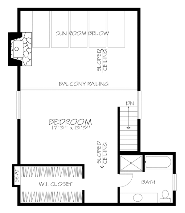 Prairie Floor Plan - Upper Floor Plan Plan #320-1188