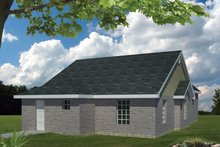 Ranch Exterior - Rear Elevation Plan #1061-23