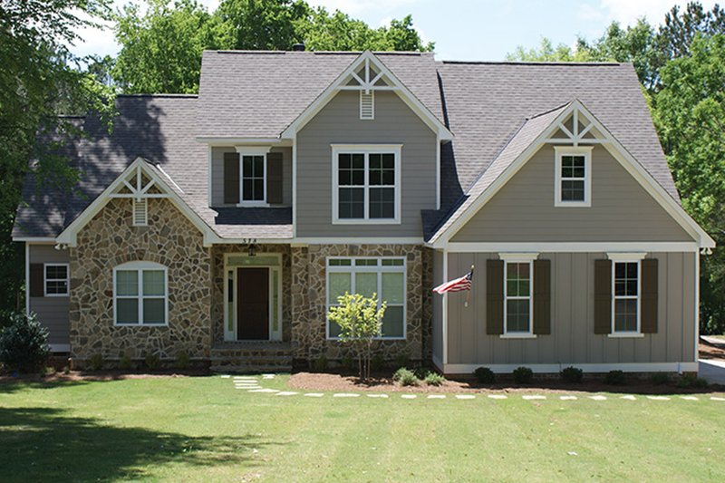 Country Exterior - Front Elevation Plan #927-878