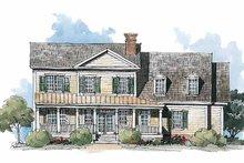 House Plan Design - Classical Exterior - Rear Elevation Plan #429-210