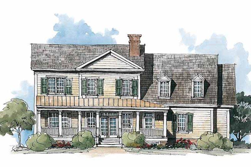 Classical Exterior - Rear Elevation Plan #429-210 - Houseplans.com