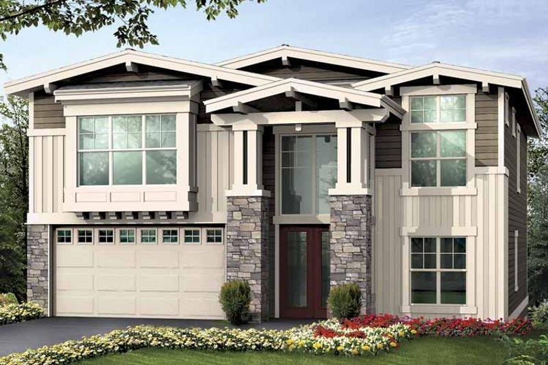 Craftsman Exterior - Front Elevation Plan #132-426 - Houseplans.com