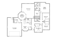 Ranch Floor Plan - Main Floor Plan Plan #1060-34